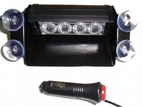 LED FLASH PARE BRISE 4 WATT 12V