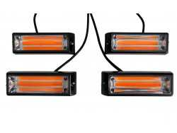 4 x LED FLITSER COB 20 WATT